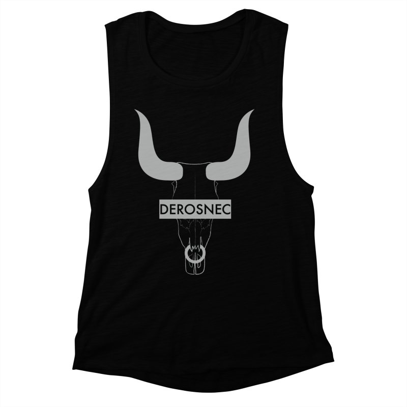 DEROSNEC - Bullheaded Women's Muscle Tank by Oh Just Peachy Studios Music Store