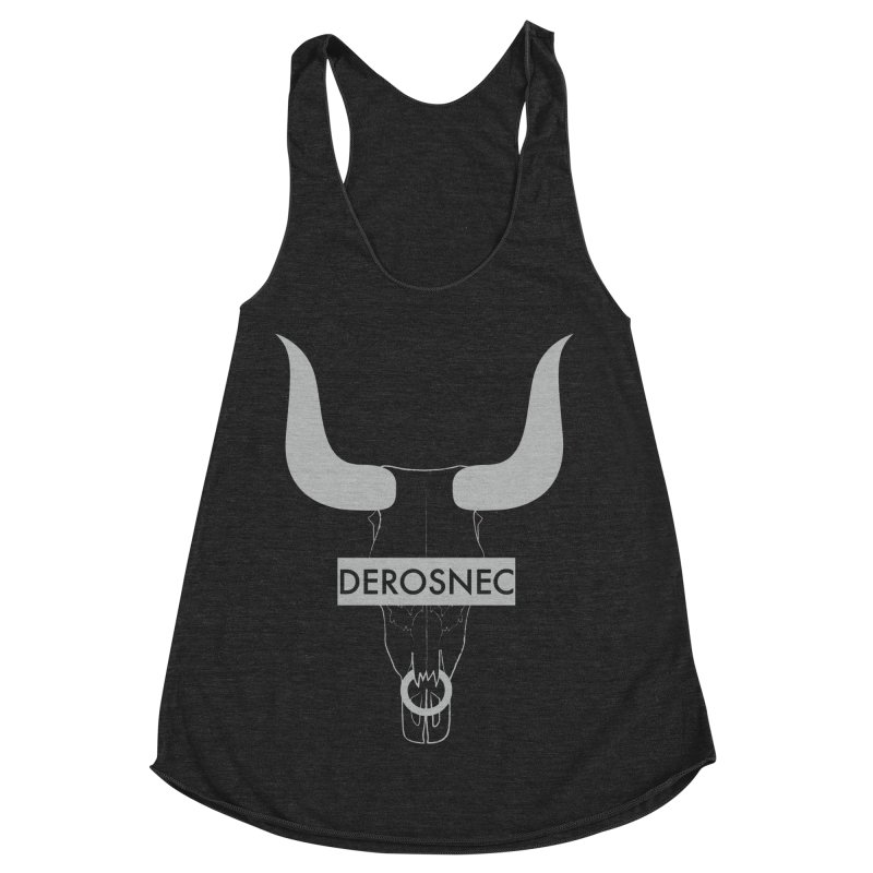 DEROSNEC - Bullheaded Women's Racerback Triblend Tank by Oh Just Peachy Studios Music Store