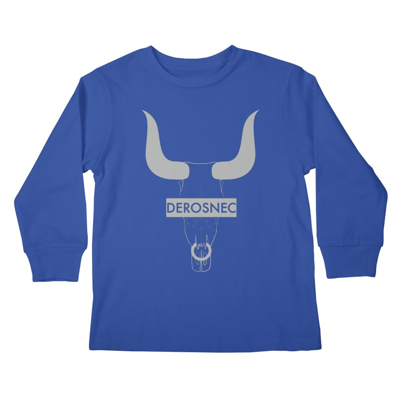 DEROSNEC - Bullheaded Kids Longsleeve T-Shirt by Oh Just Peachy Studios Music Store