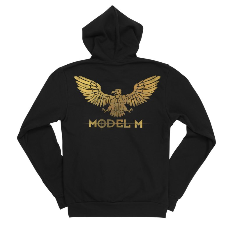 Model M - The Eagle Women's Sponge Fleece Zip-Up Hoody by Oh Just Peachy Studios Music Store