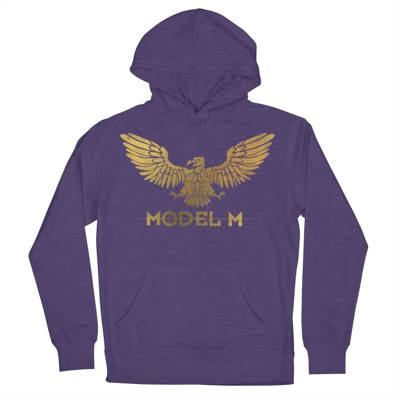 Model M - The Eagle Men's French Terry Pullover Hoody by Oh Just Peachy Studios Music Store