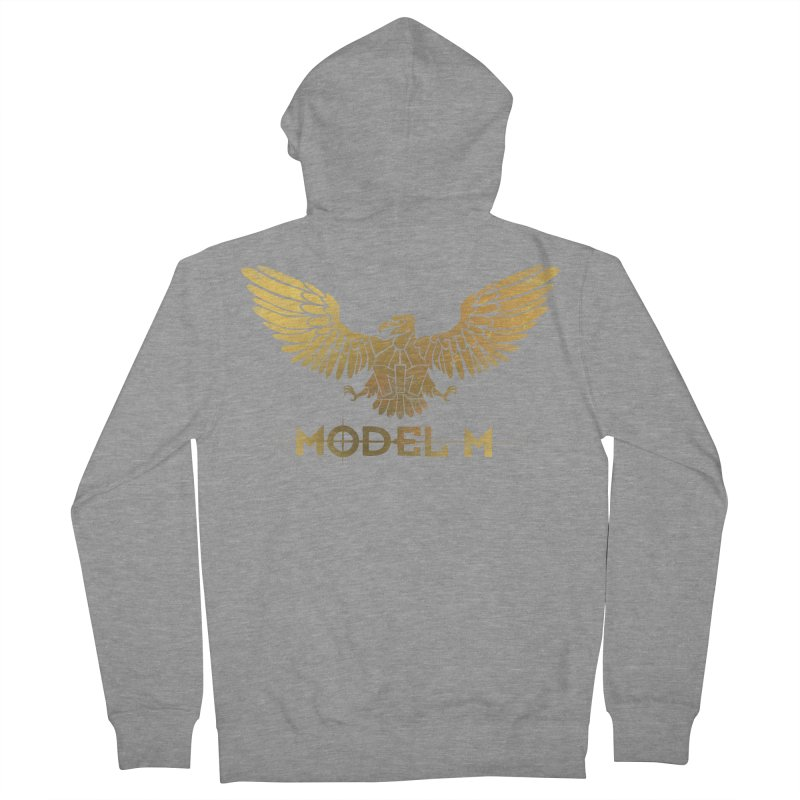 Model M - The Eagle Women's French Terry Zip-Up Hoody by Oh Just Peachy Studios Music Store