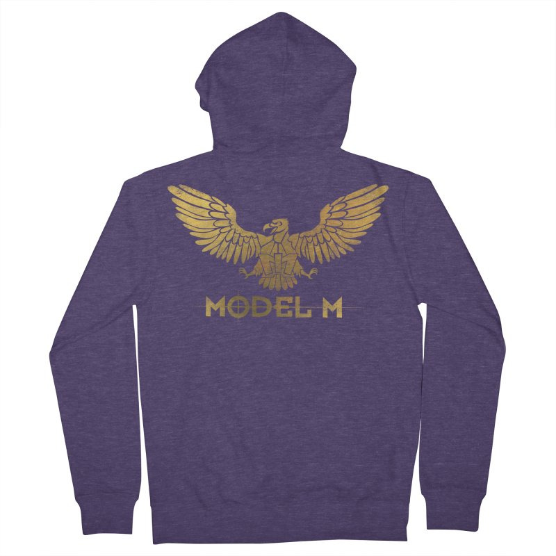 Model M - The Eagle Men's Zip-Up Hoody by Oh Just Peachy Studios Music Store