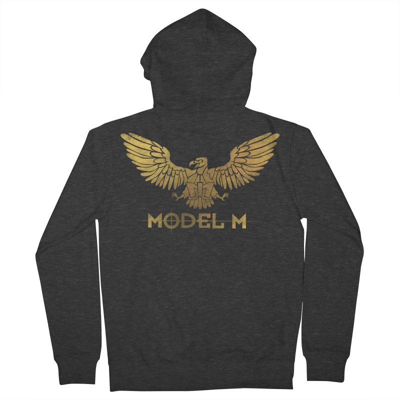 Model M - The Eagle Men's French Terry Zip-Up Hoody by Oh Just Peachy Studios Music Store