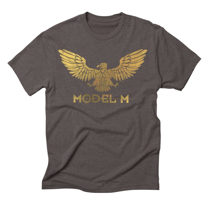 Model M - The Eagle Men's Triblend T-Shirt by Oh Just Peachy Studios Music Store