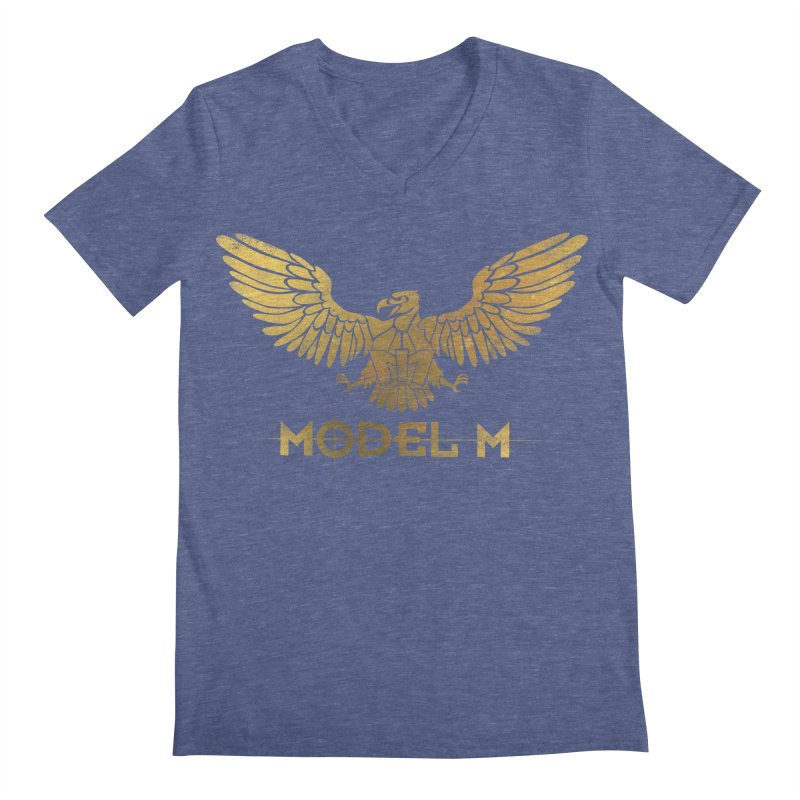 Model M - The Eagle Men's Regular V-Neck by Oh Just Peachy Studios Music Store