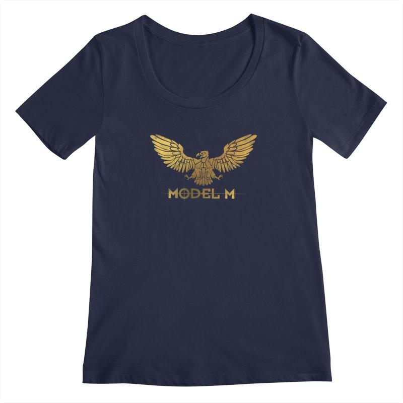 Model M - The Eagle Women's Regular Scoop Neck by Oh Just Peachy Studios Music Store