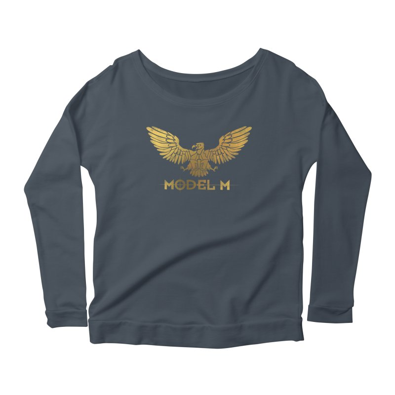 Model M - The Eagle Women's Scoop Neck Longsleeve T-Shirt by Oh Just Peachy Studios Music Store