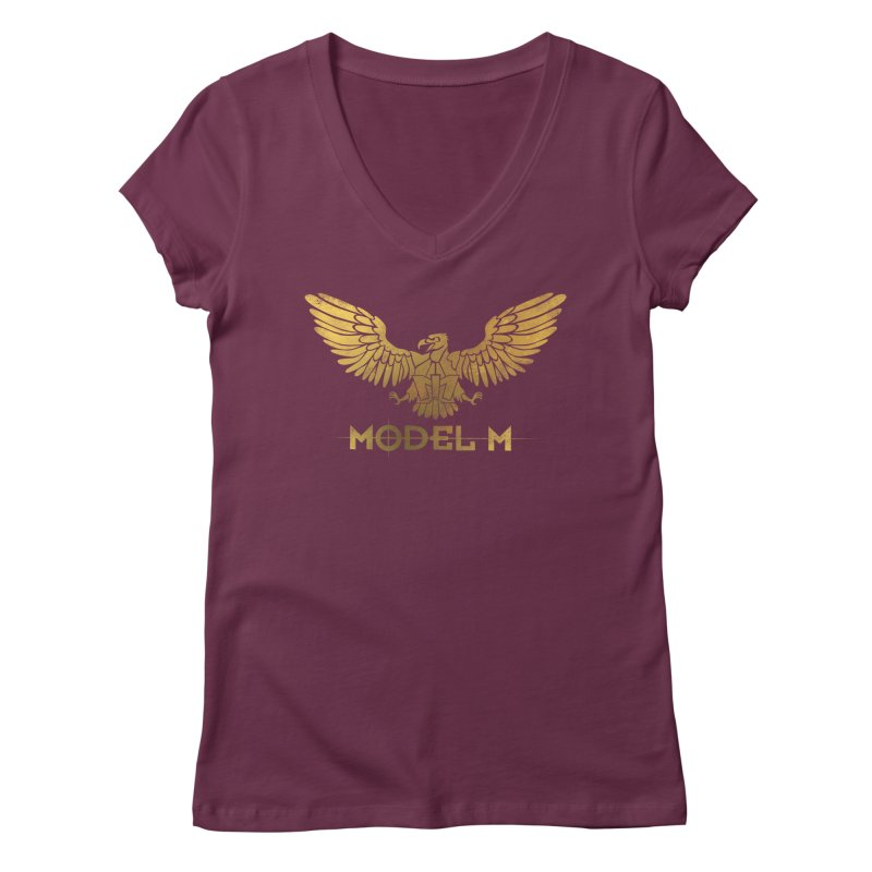 Model M - The Eagle Women's Regular V-Neck by Oh Just Peachy Studios Music Store