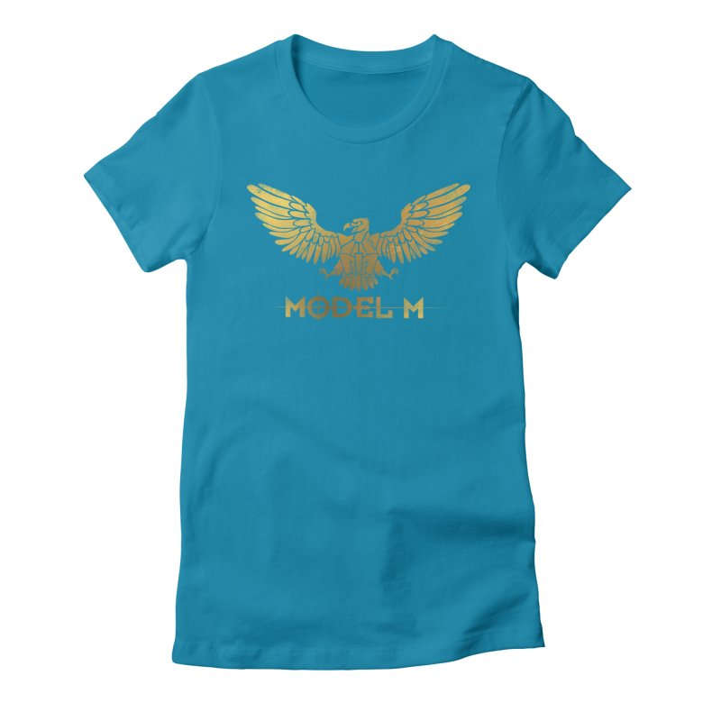 Model M - The Eagle Women's Fitted T-Shirt by Oh Just Peachy Studios Music Store