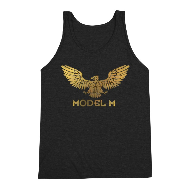 Model M - The Eagle Men's Triblend Tank by Oh Just Peachy Studios Music Store