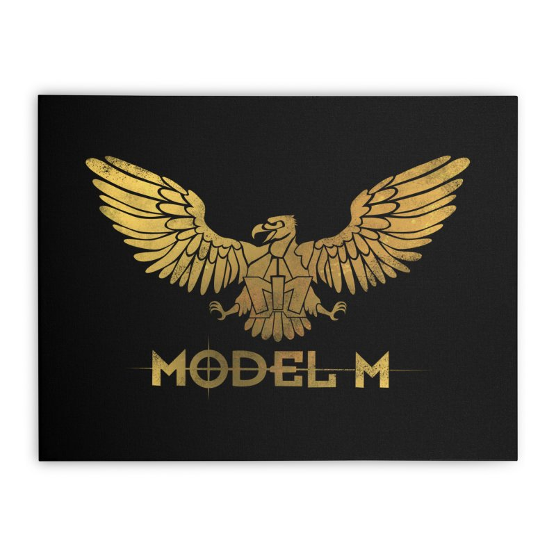 Model M - The Eagle Home Stretched Canvas by Oh Just Peachy Studios Music Store