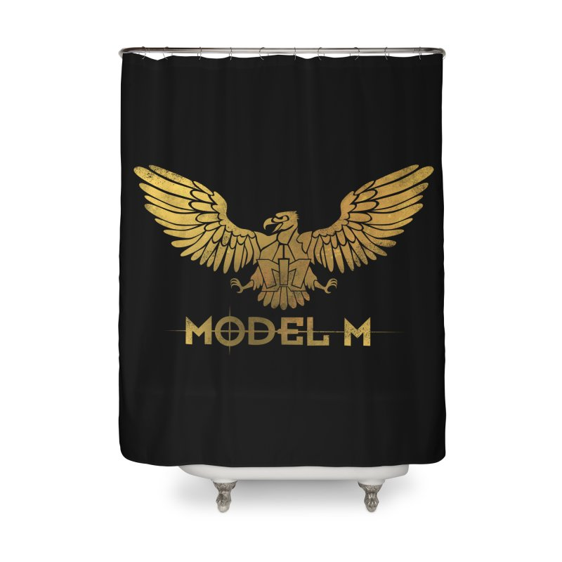 Model M - The Eagle Home Shower Curtain by Oh Just Peachy Studios Music Store
