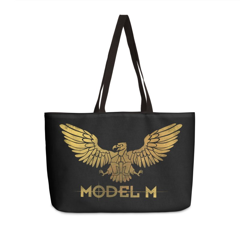 Model M - The Eagle Accessories Weekender Bag Bag by Oh Just Peachy Studios Music Store