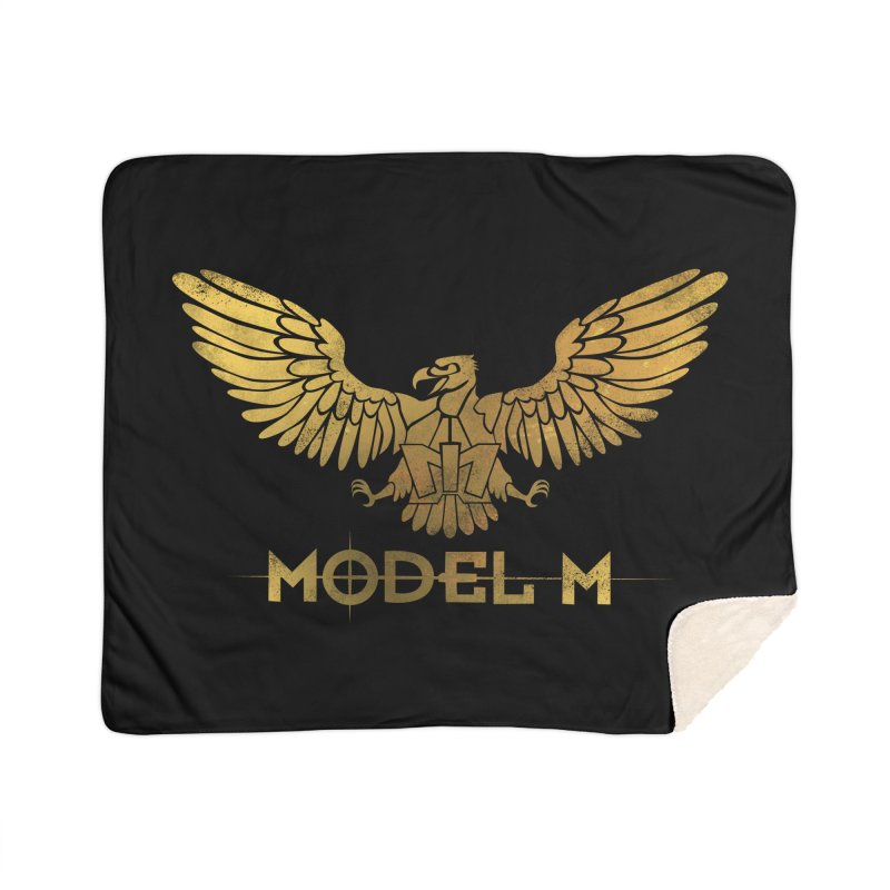 Model M - The Eagle Home Sherpa Blanket Blanket by Oh Just Peachy Studios Music Store