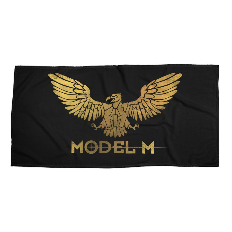 Model M - The Eagle Accessories Beach Towel by Oh Just Peachy Studios Music Store
