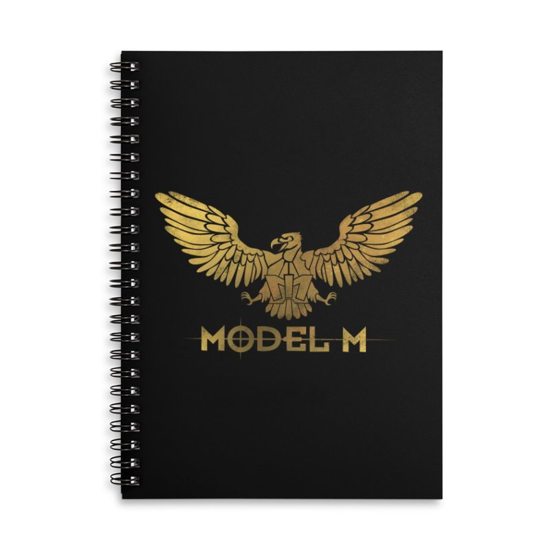 Model M - The Eagle Accessories Lined Spiral Notebook by Oh Just Peachy Studios Music Store