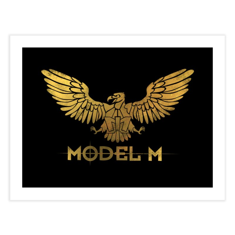 Model M - The Eagle Home Fine Art Print by Oh Just Peachy Studios Music Store