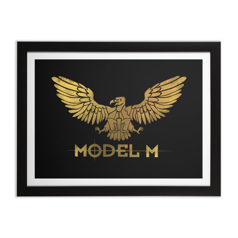 Model M - The Eagle Home Framed Fine Art Print by Oh Just Peachy Studios Music Store