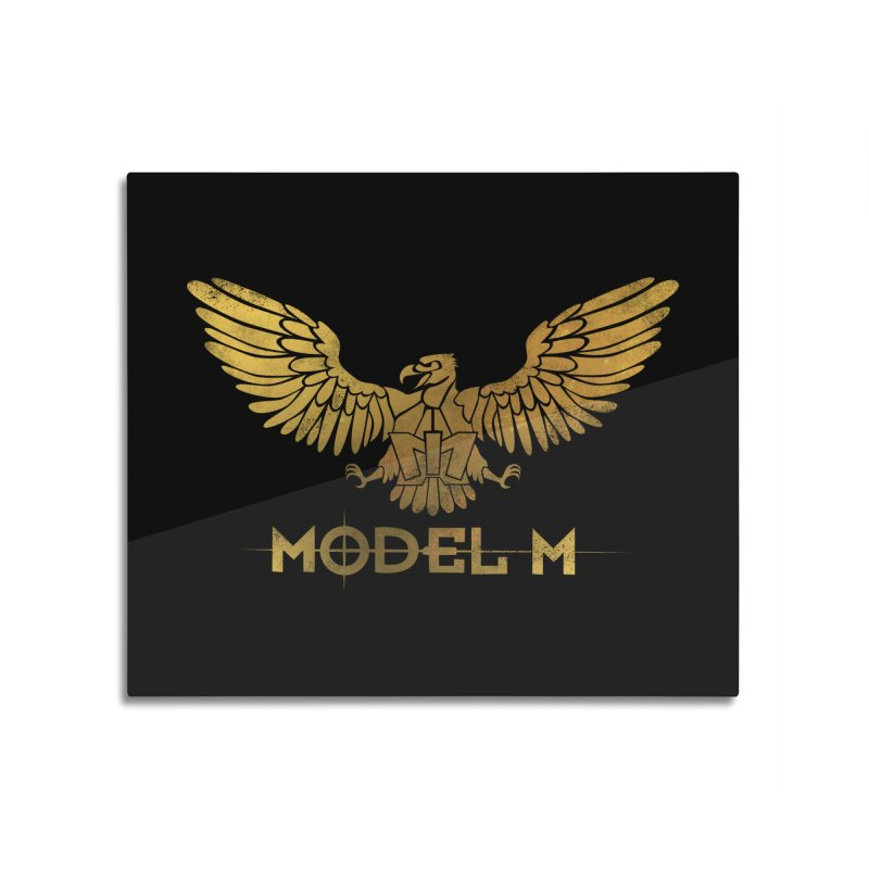 Model M - The Eagle Home Mounted Aluminum Print by Oh Just Peachy Studios Music Store