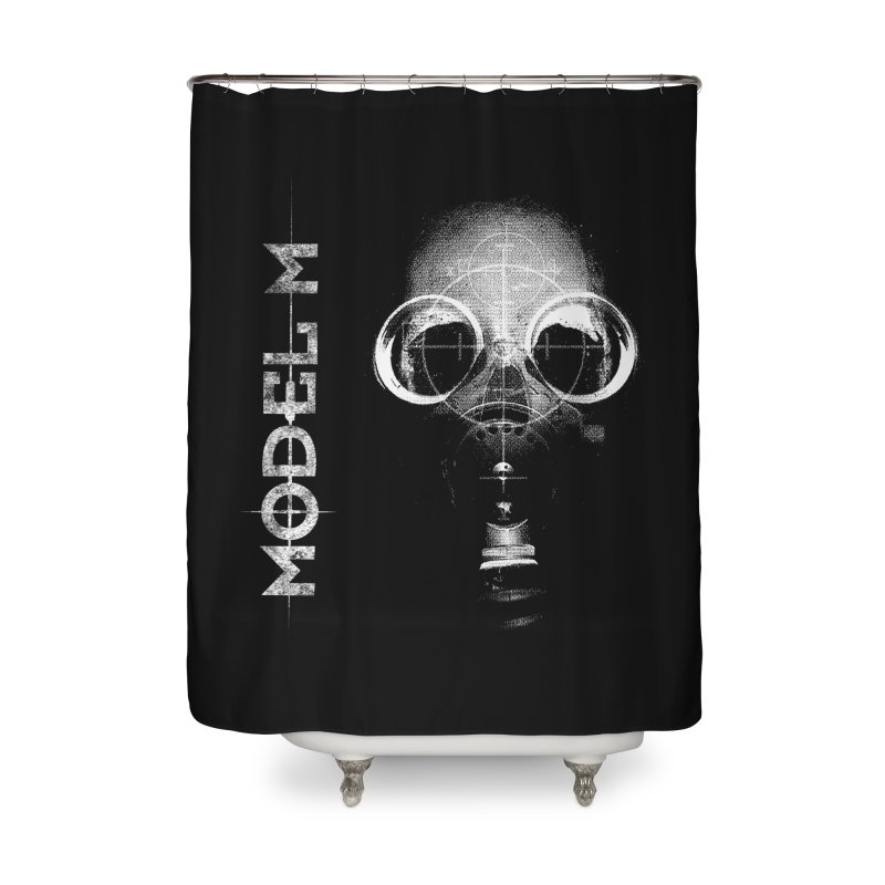 Model M - Hazmat Home Shower Curtain by Oh Just Peachy Studios Music Store