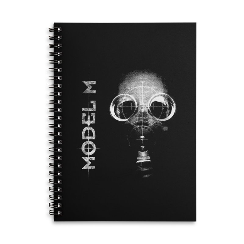 Model M - Hazmat Accessories Lined Spiral Notebook by Oh Just Peachy Studios Music Store