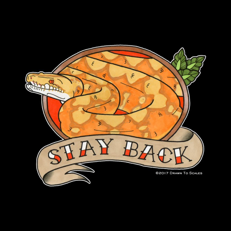 Stay Back Reticulated Python by Drawn to Scales