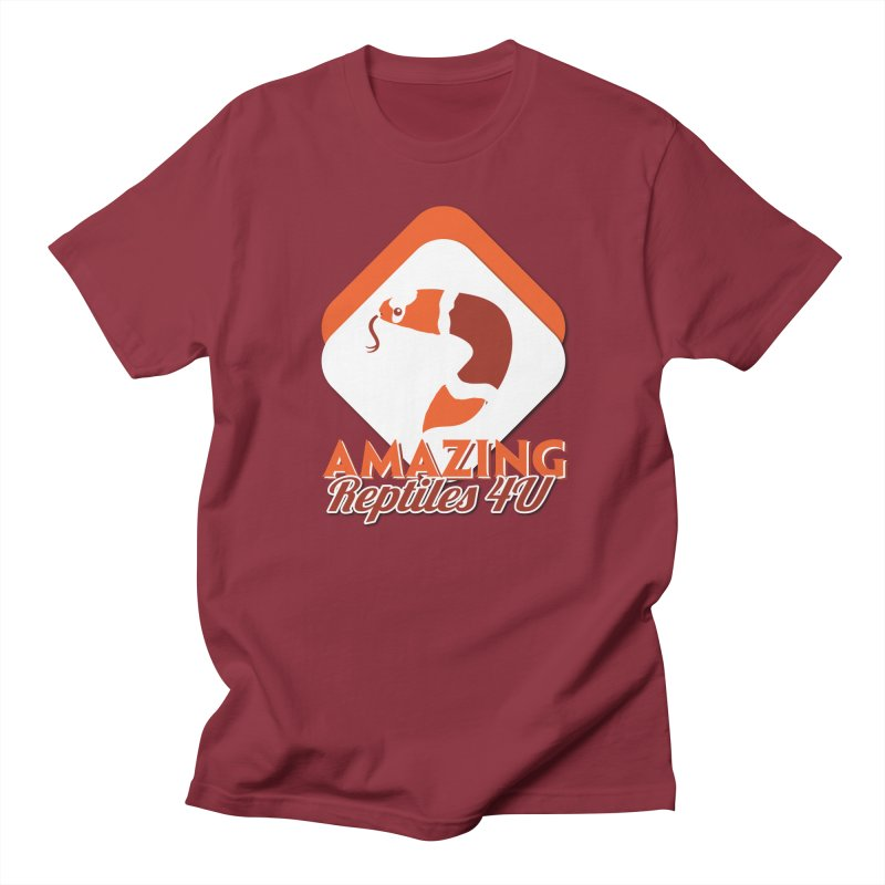 Amazing Reptiles 4U in Men's Regular T-Shirt Scarlet Red by Drawn to Scales