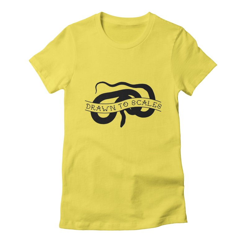 Drawn to Scales in Women's Fitted T-Shirt Vibrant Yellow by Drawn to Scales