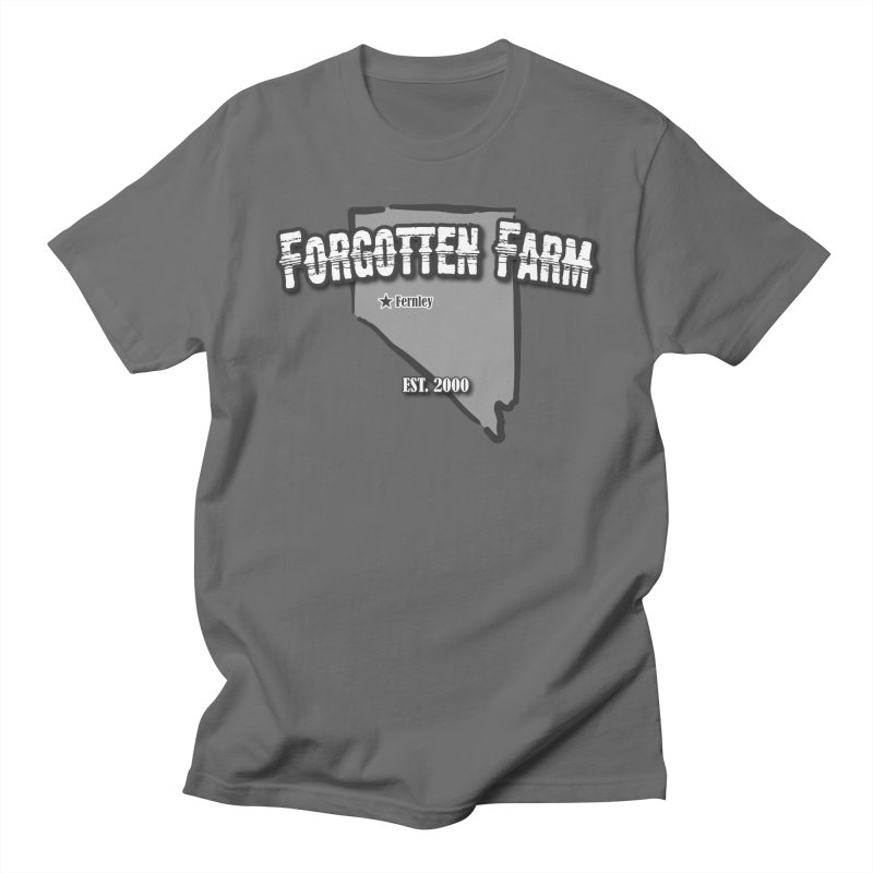 Forgotten Farms in Men's Regular T-Shirt Asphalt by Drawn to Scales