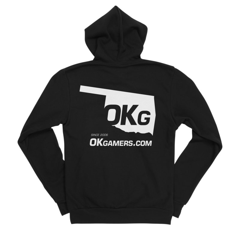 OKgamers.com - Oklahoma Gamers Men's Sponge Fleece Zip-Up Hoody by Oklahoma Gamers' Shop