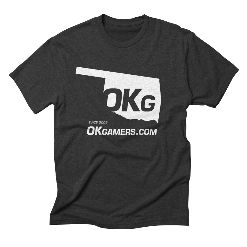 OKgamers.com - Oklahoma Gamers in Men's Triblend T-Shirt Heather Onyx by OKgamers's Shop