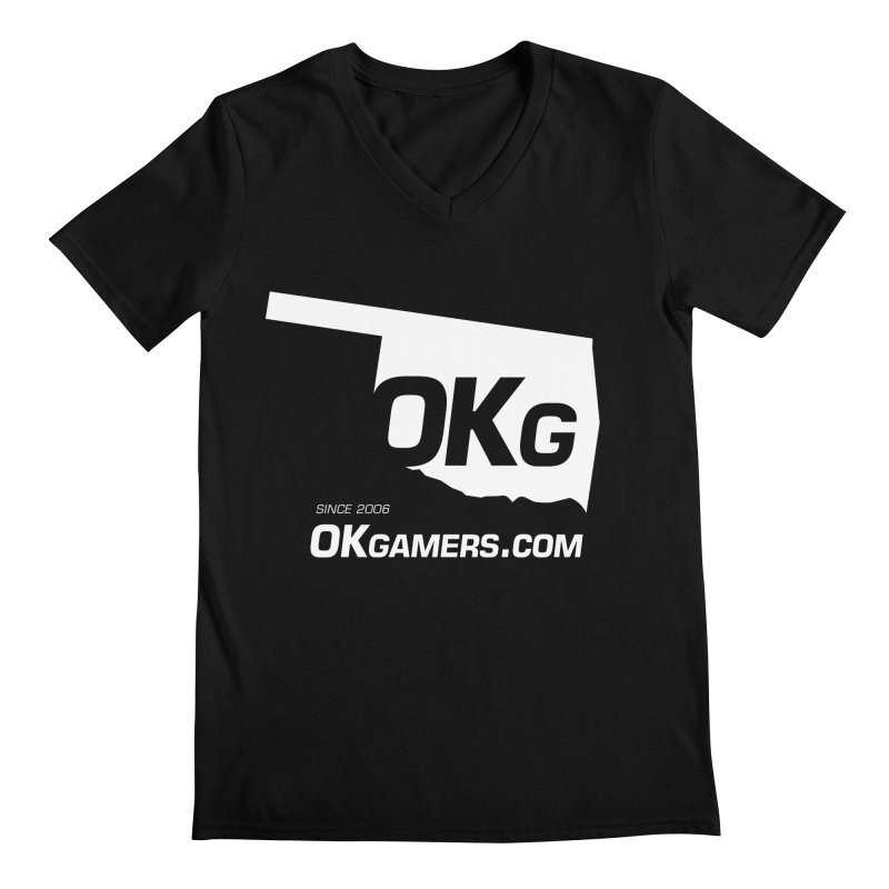 OKgamers.com - Oklahoma Gamers Men's V-Neck by Oklahoma Gamers' Shop