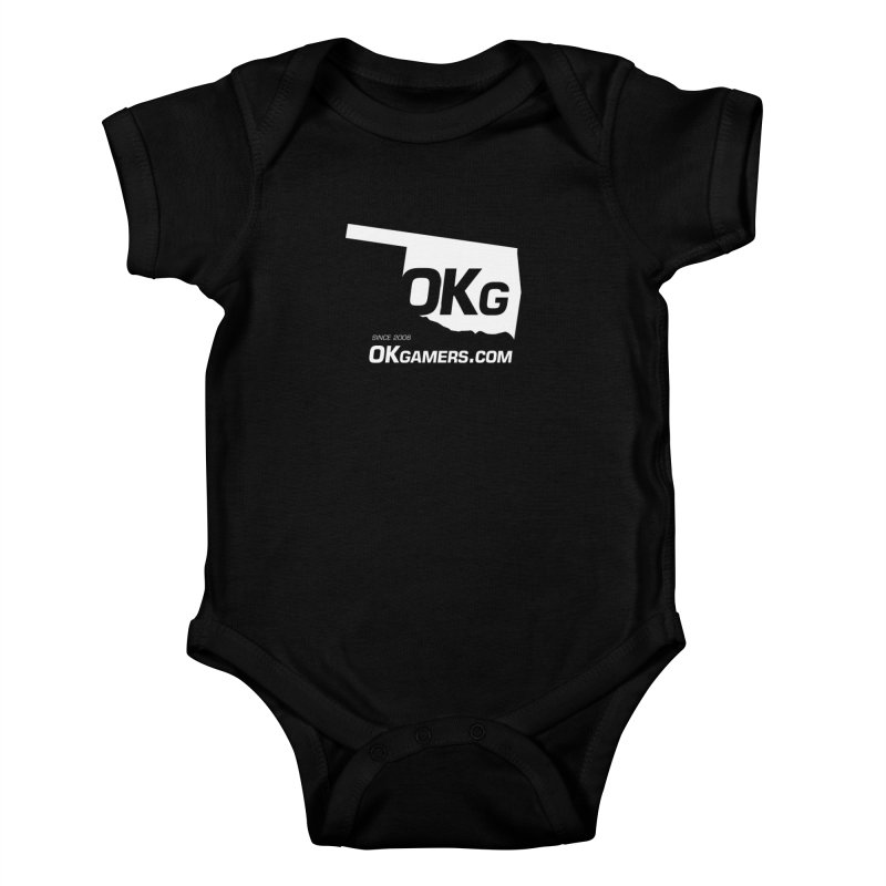 OKgamers.com - Oklahoma Gamers in Kids Baby Bodysuit Black by OKgamers's Shop
