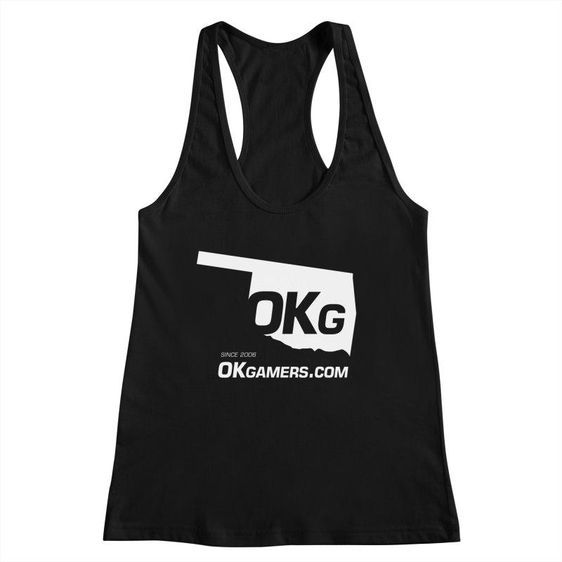 OKgamers.com - Oklahoma Gamers Women's Racerback Tank by Oklahoma Gamers' Shop