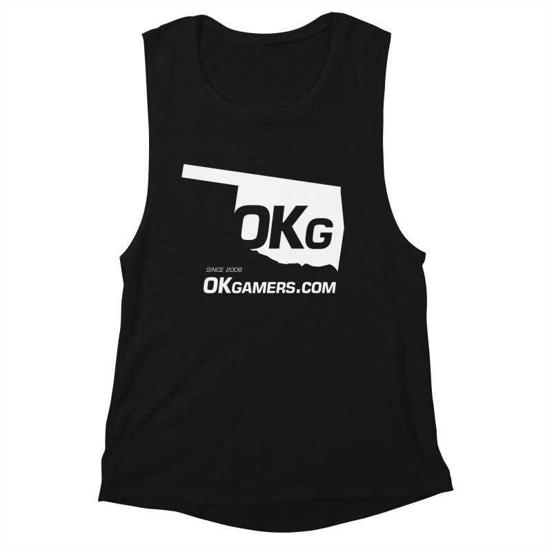 OKgamers.com - Oklahoma Gamers Women's Muscle Tank by Oklahoma Gamers' Shop