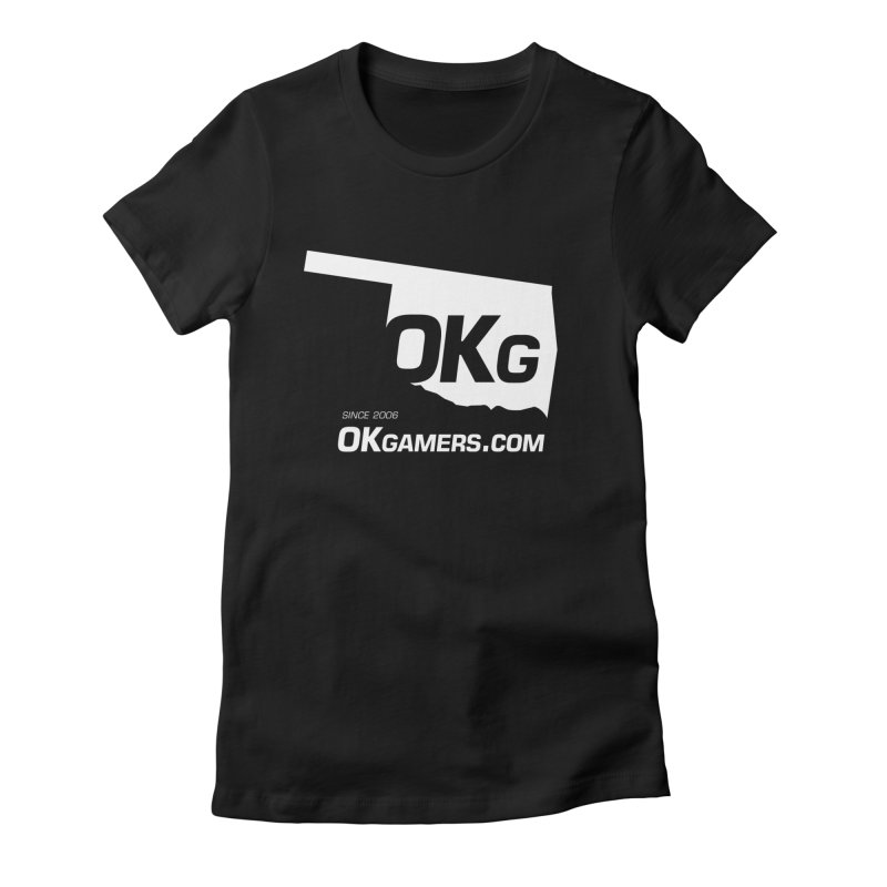 OKgamers.com - Oklahoma Gamers in Women's Fitted T-Shirt Black by OKgamers's Shop