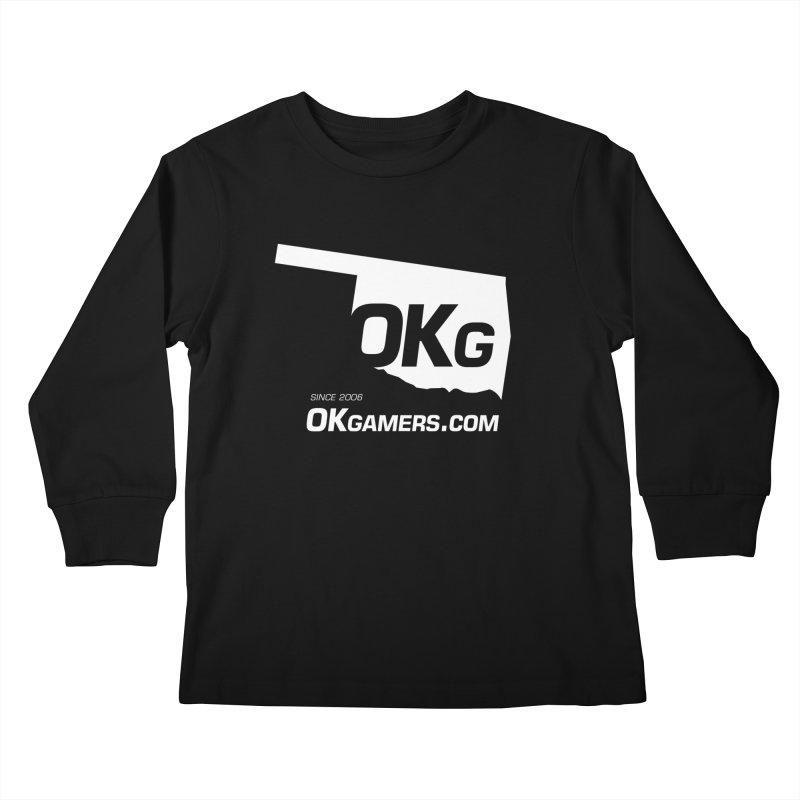 OKgamers.com - Oklahoma Gamers Kids Longsleeve T-Shirt by Oklahoma Gamers' Shop