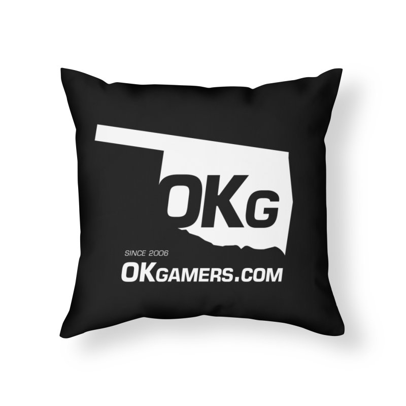 OKgamers.com - Oklahoma Gamers Home Throw Pillow by OKgamers's Shop