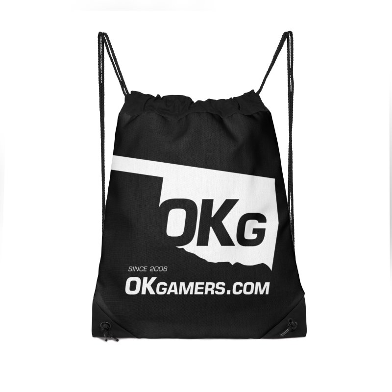 OKgamers.com - Oklahoma Gamers Accessories Drawstring Bag Bag by Oklahoma Gamers' Shop