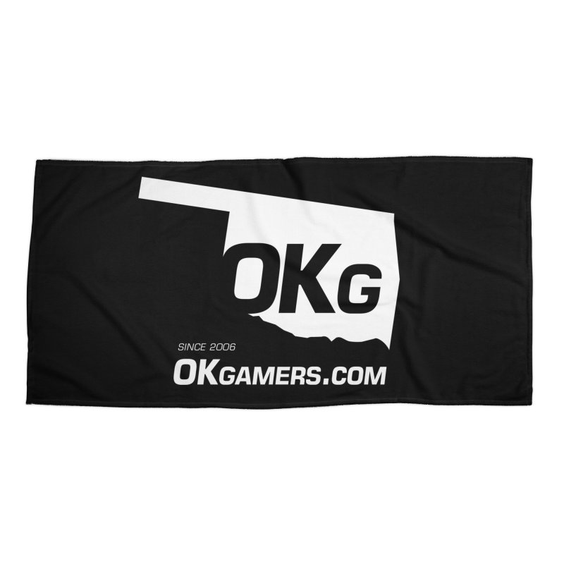 OKgamers.com - Oklahoma Gamers Accessories Beach Towel by OKgamers's Shop