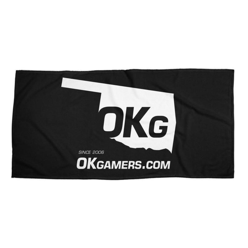 OKgamers.com - Oklahoma Gamers Accessories Beach Towel by Oklahoma Gamers' Shop
