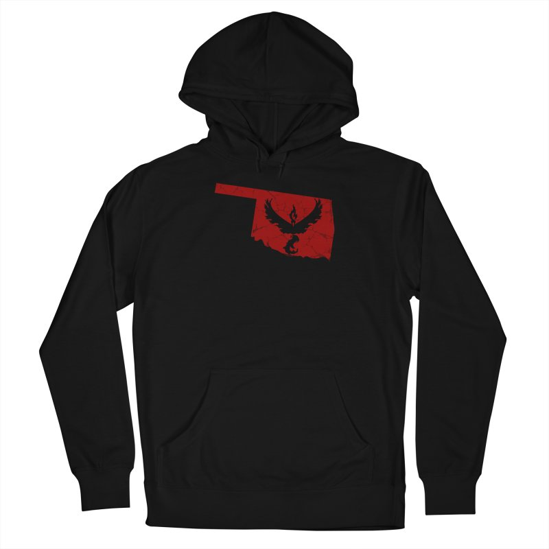 Pokemon Go Oklahoma - Team Valor in Men's French Terry Pullover Hoody Black by Oklahoma Gamers' Shop