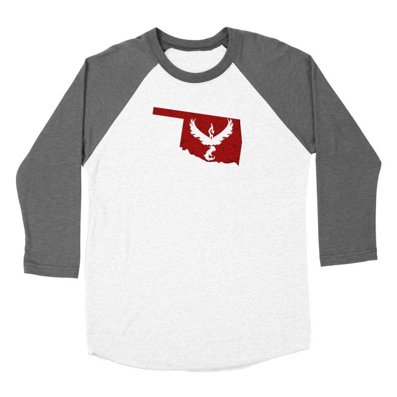 Pokemon Go Oklahoma - Team Valor Men's Baseball Triblend Longsleeve T-Shirt by Oklahoma Gamers' Shop