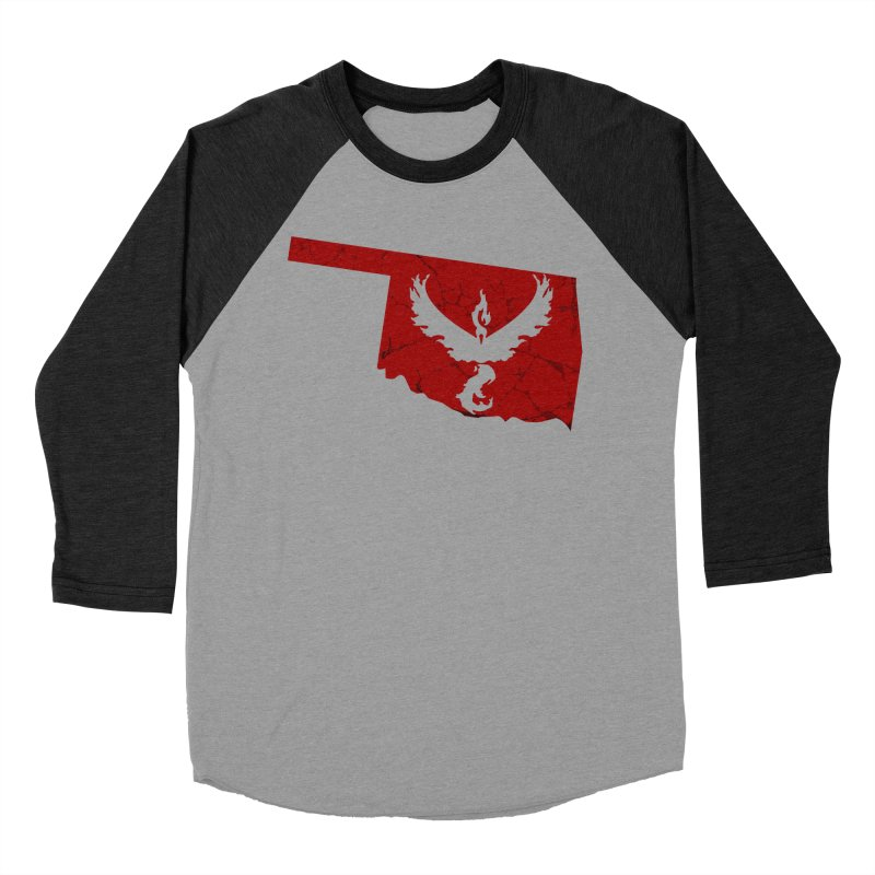 Pokemon Go Oklahoma - Team Valor Men's Baseball Triblend T-Shirt by OKgamers's Shop