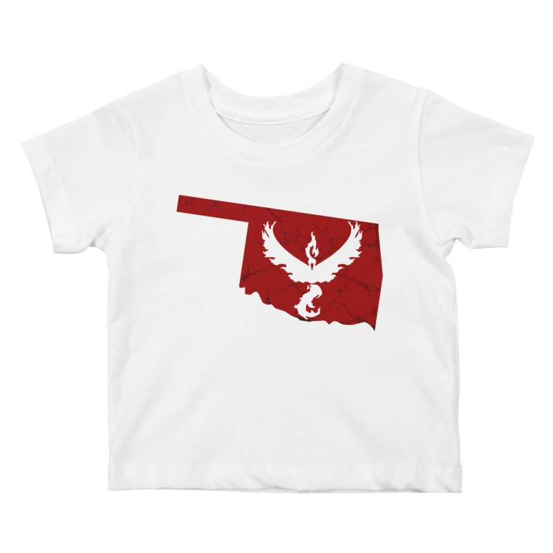 Pokemon Go Oklahoma - Team Valor Kids Baby T-Shirt by Oklahoma Gamers' Shop