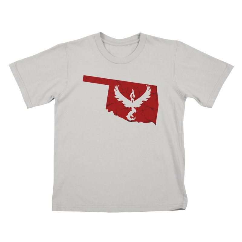 Pokemon Go Oklahoma - Team Valor Kids T-Shirt by OKgamers's Shop