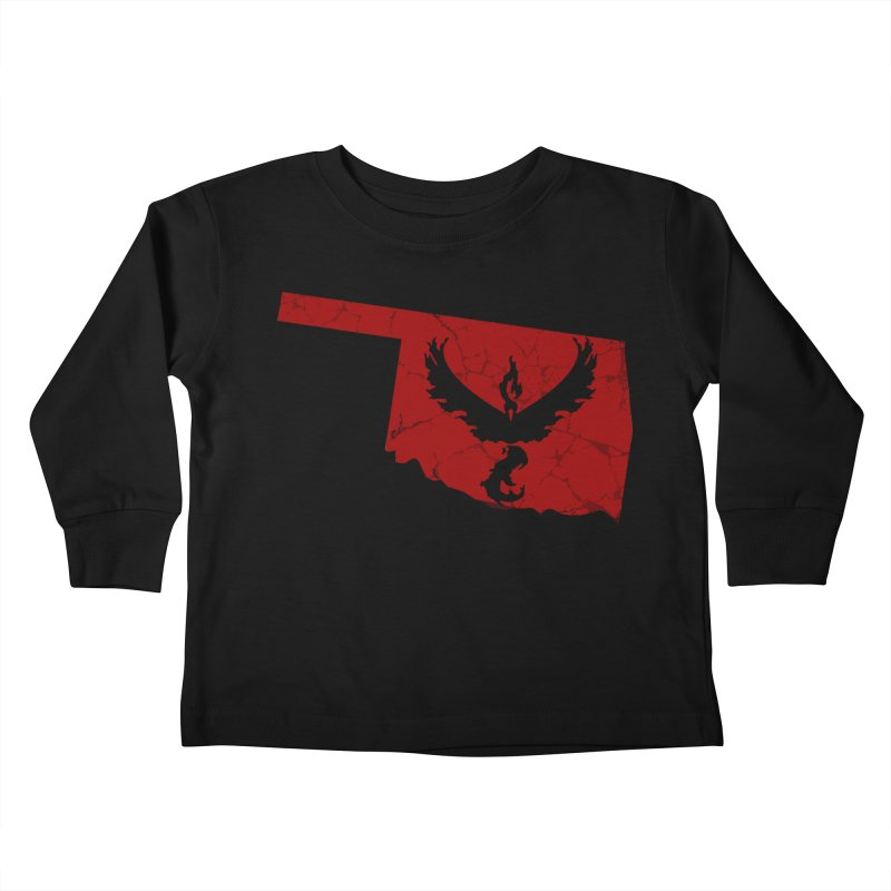 Pokemon Go Oklahoma - Team Valor Kids Toddler Longsleeve T-Shirt by OKgamers's Shop