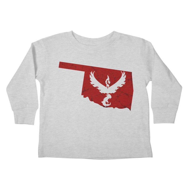 Pokemon Go Oklahoma - Team Valor Kids Toddler Longsleeve T-Shirt by OKgamers's Shop