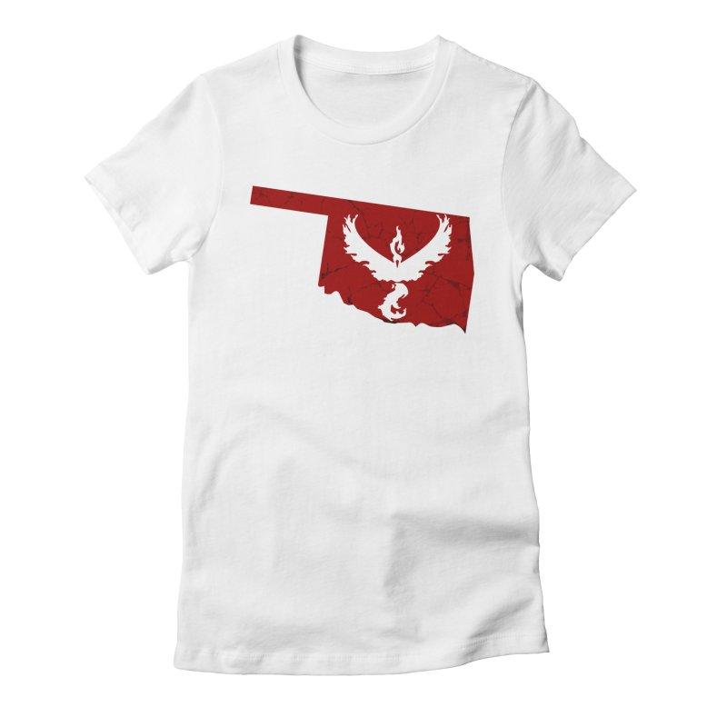 Pokemon Go Oklahoma - Team Valor Women's Fitted T-Shirt by OKgamers's Shop